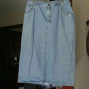 Liz Claiborne Women's Blue Jean Skirt